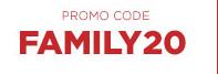 PROMO CODE - FAMILY20