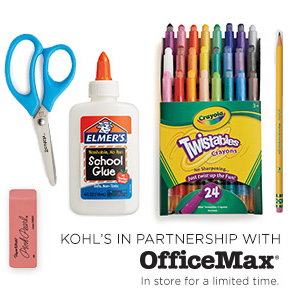 KOHL'S IN PARTNERSHIP WITH - OfficeMax® - In store for a limited time.