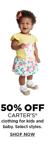 50% off select Carter's clothing for kids and baby. Shop now.