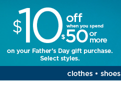 $10 off when you spend $50 or more on your Father's Day gift purchase using promo code TREATDAD10. Shop now.