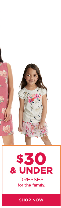 $30 and under dresses for the family. Shop now.