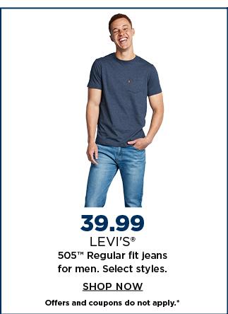 $39.99 levis jeans for men. select styles. shop now.