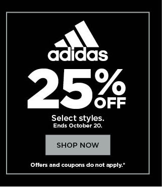 25% off adidas.  shop now.