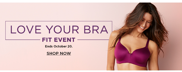 shop all bras during the love your bra fit event.