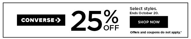 25% off converse.  shop now.
