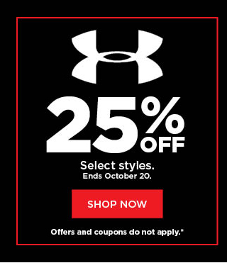 25% off under armour.  shop now.
