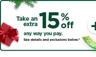 take an extra 15% off using promo code HOTBUYS. shop now.