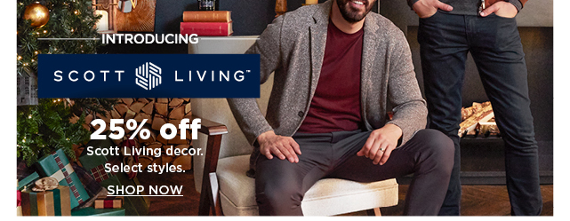 25% off scott living home decor. select styles. shop now.