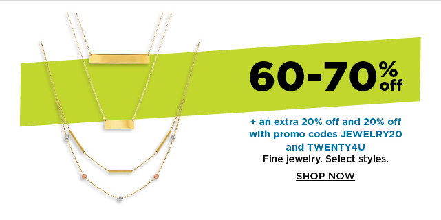 60-70% fine jewelry. shop now.