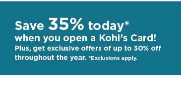 don't have a kohls charge? apply now.