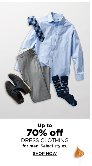 Up to 70% off dress clothes for men. shop now.